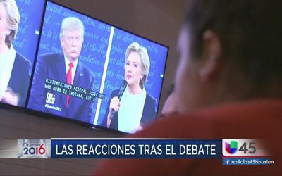 Así fueron las reacciones en Houston al segundo debate presidencial
