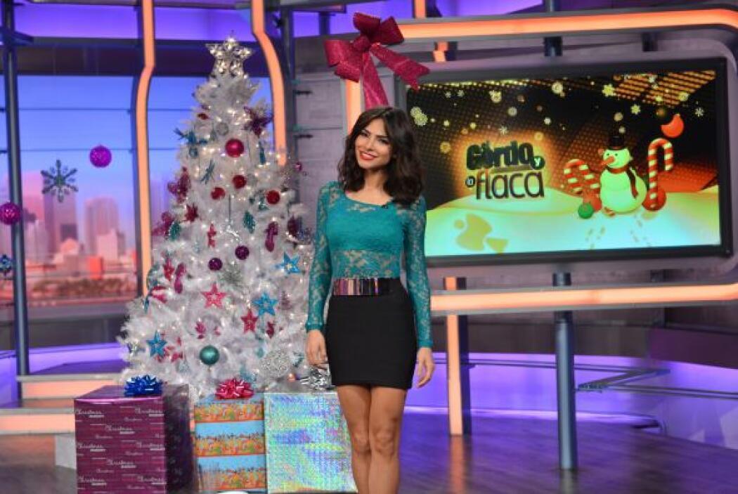 En esta ocasión, la bella Alejandra Espinoza fue una de las conductoras...