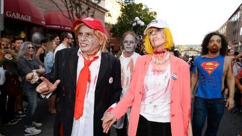 Los zombis de Trump y Clinton, superhéroes y dinosaurios, así se vivió C...