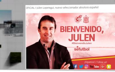 Lopetegui es el nuevo técnico de España