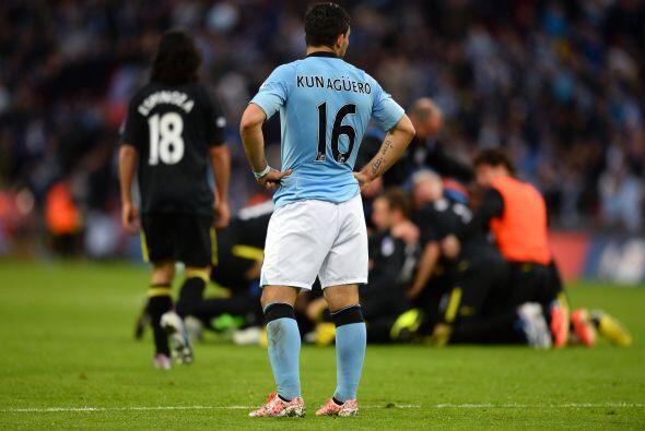 El Manchester City veía como se les iba el trofeo en el úl...