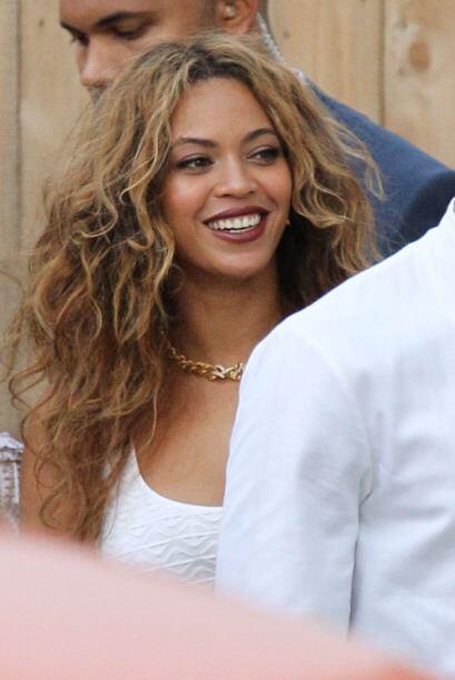 No sabremos nunca si Beyoncé se divirtió así en su propia boda, pero en...