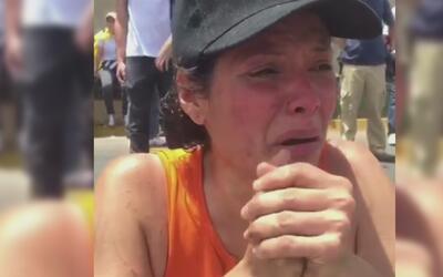 En medio del desespero, una venezolana llora y dice estar ''harta de res...