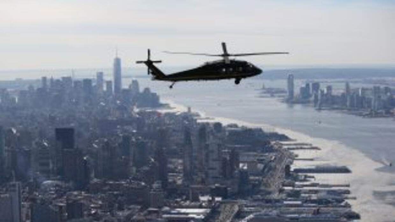 Según fuentes de la Policía, los pilotos del helicóptero se vieron oblig...