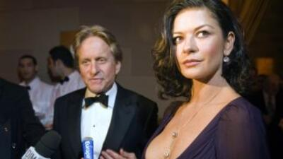 Catherine Zeta-Jones y Michael Douglas.