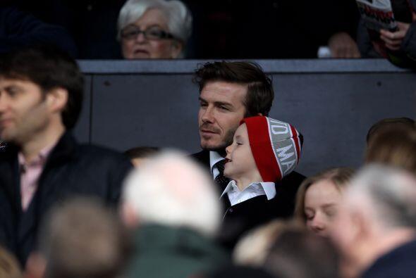 En el estadio estuvo presente David Beckham junto a su familia, visitant...