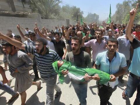 La aviación israelí proseguía por tercer día su ofensiva aérea en Gaza....