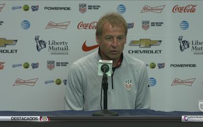"Jürgen Klinsmann: ""No estamos clasificados todavía, queremos ser primeros"""