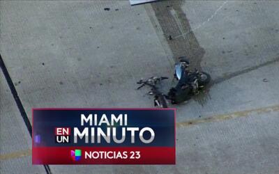 'Miami en un Minuto': un oficial de policía abrió fuego contra un hombre...