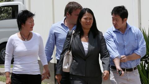 Keiko Fujimori, en la imagen en una  se disputará la segunda vuelta de l...