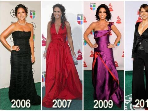 Lucero se inclina por los colores fuertes y los vestidos sólidos.