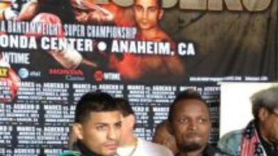 Mares y Agbeko dieron última conferencia de prensa (Foto: Golden Boy vía...