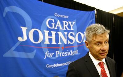 Gary Johnson consiguió casi un 1% de apoyo popular en 2012.