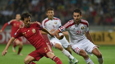 Bielorrusia 0-1 España: Silva salva el centenario feliz de Del Bosque y...