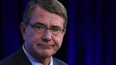 El secretario de Defensa de EEUU, Ashton Carter, en un foro en Washington.