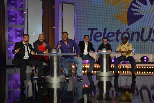 Los humoristas de Sábado Gigante hicieron de las suyas en el Teletón USA.