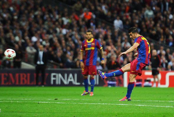Luego llegó el turno del 'guaje' David Villa. El delantero convirtió un...