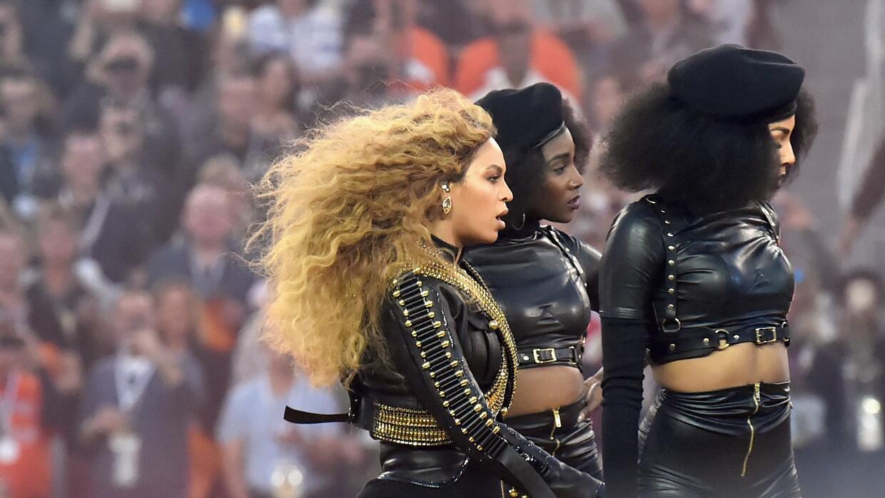 Beyonce performs onstage during the Pepsi Super Bowl 50 Halftime Show