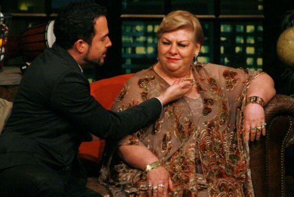 La cantante estuvo al borde de la lágrima, pero Carlos como todo...