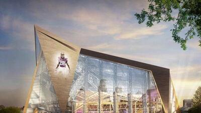 El nuevo estadio de los Vikings estará listo para el 2016 (AP-NFL).