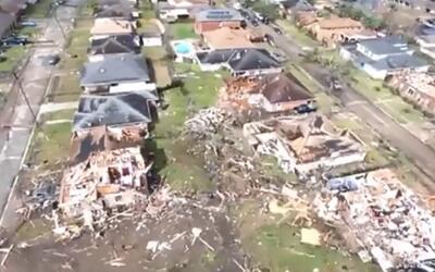 En video: así quedó Nueva Orleans tras el paso de varios tornados