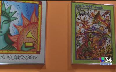 Exhibición en el museo de los Grammy