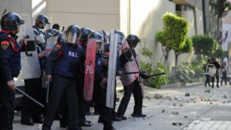 Disturbios en México.