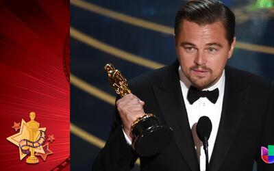 ¡Leonardo DiCaprio ya se llevó su Oscar!