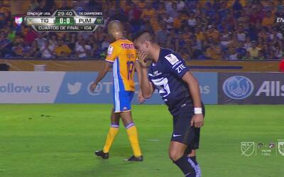 Pablo Barrera desaprovechó una opción importante para Pumas