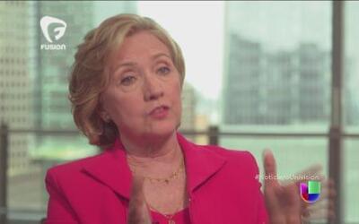 Hillary Clinton dijo que no deportaría a todos los niños indocumentados