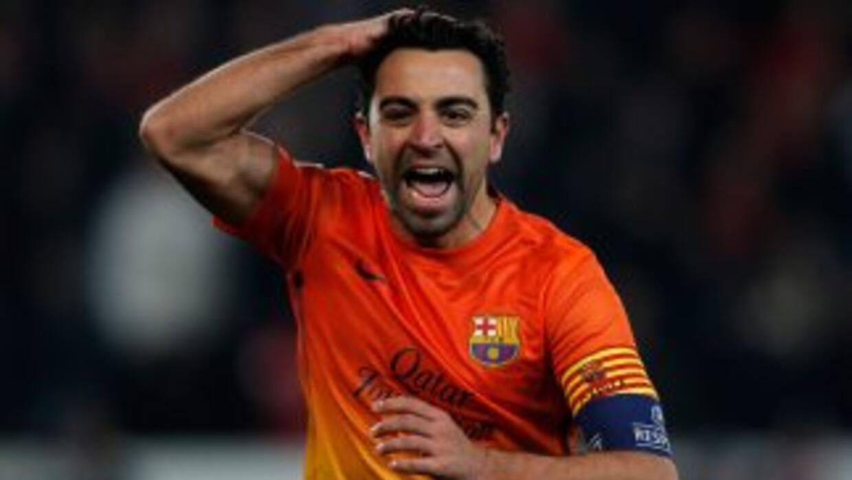 El lado altruista de Xavi fue lo mejor de su festejo por el gol ante PSG...