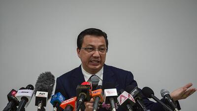 Liow Tiong Lai , ministro de Transporte de Malasia