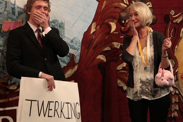 Y cuando le dieron el premio especial los estudiantes de actuació...