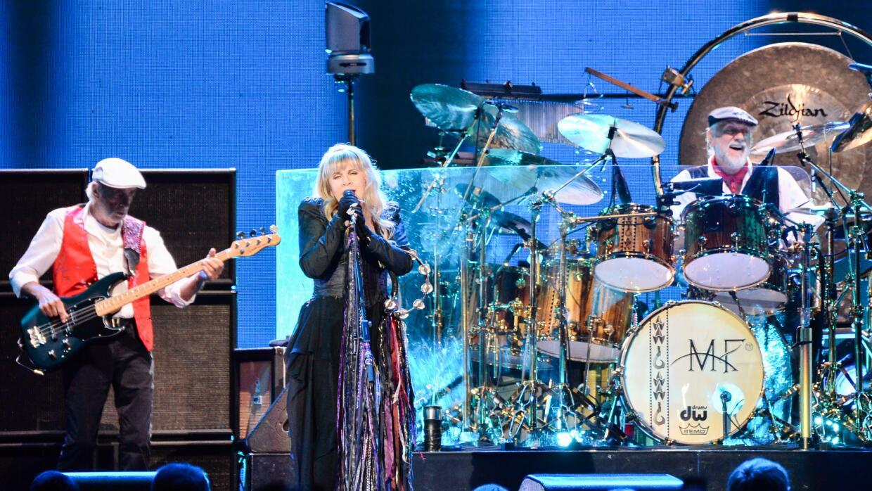 LONDON, ENGLAND - MAY 27: ohn McVie, Stevie Nicks and Mick Fleetwood of...