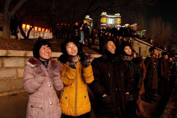 Celebraciones en Corea del Norte.