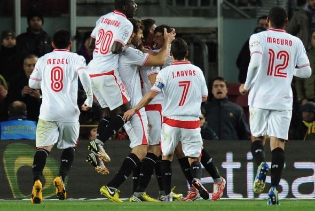 Sevilla hizo buena una de sus pocas claras y Botía puso el 1-0.