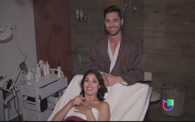 La ex belleza latina, Essined Aponte, cogió un masaje gratis en el Quiz...