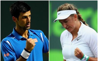Djokovic y Azarenka a semis del Miami Open