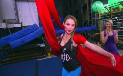 Ximena y William fueron detrás del escenario en Cirque du Soleil