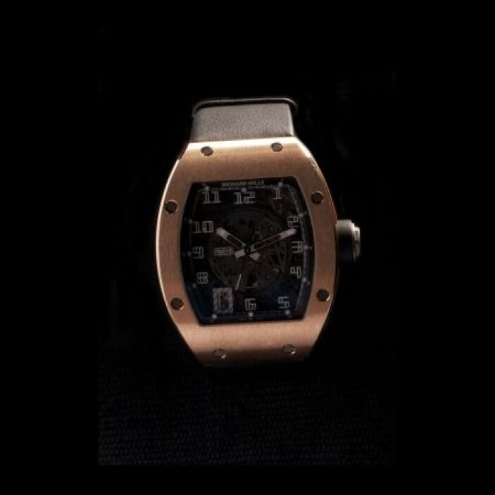 Reloj de pulso para caballero, marca Richard Mille, con caja en oro  ros...