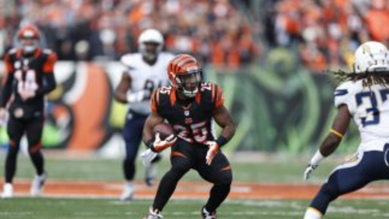 Giovani Bernard es fundamental en los Bengals (AP-NFL).