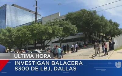 Investigan balacera en un edificio al norte de Dallas