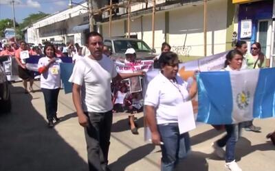 El grupo 'Madres centroamericanas' cruzó la frontera mexicana para encon...