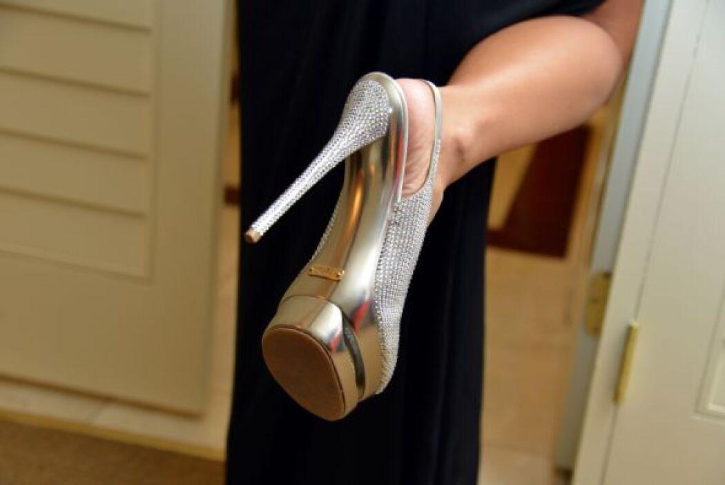 Tremendos zapatos, adecuados para la traviesa Ninel en Las Vegas.