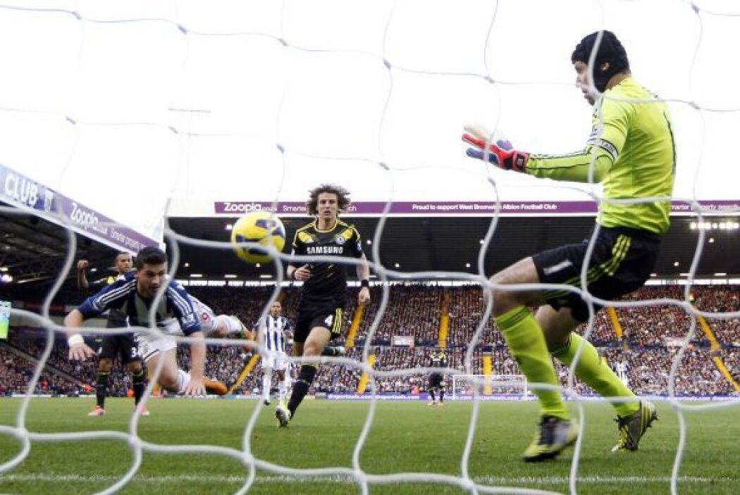 Shane Long abrió el marcador con este gol.