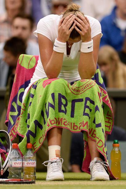 Kvitova tuvo muchos errores que le costaron el partido.