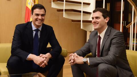 Pedro Sánchez (PSOE) y Albert Rivera (Ciudadanos)