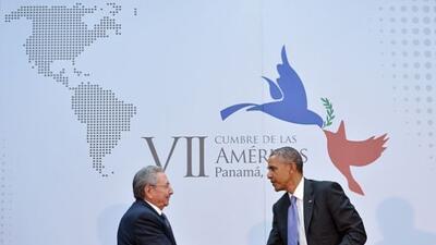 El esperado encuentro entre los presidentes de Cuba y EEUU se concretó e...