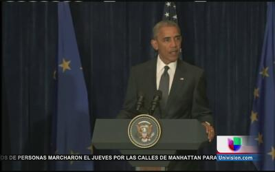 Presidente Obama condena el tiroteo que dejó 5 policías muertos en Dallas