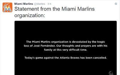 Los Miami Marlins cancelaron su partido contra los Bravos de Atlanta por...
